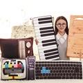 52/64 cm Envío de La Gota Creativo TV artificial/Teclado de piano Juguetes de Peluche almohada Cojín chico/chica de cumpleaños regalo
