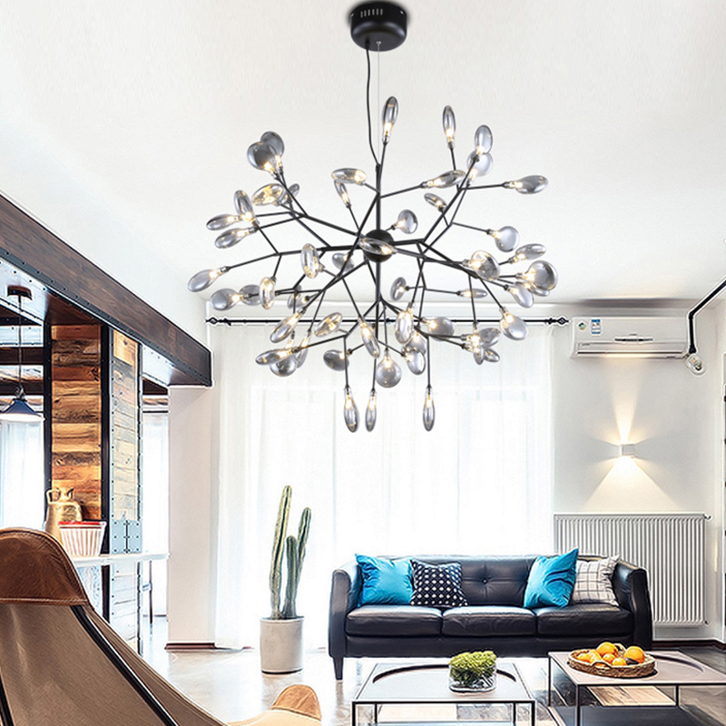 Modern Chandelier Lighting For Living Room Nordic With G4 Led Bulbs Lustre Chandeliers Campfire Hanging Lamp Glass Lamp Fixtures