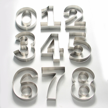 1Pc Stainless Steel 8 Inches DIY Fondant Cake Mold 0-8 Numbers Decorating Tools Birthday Design Bakeware Pastry