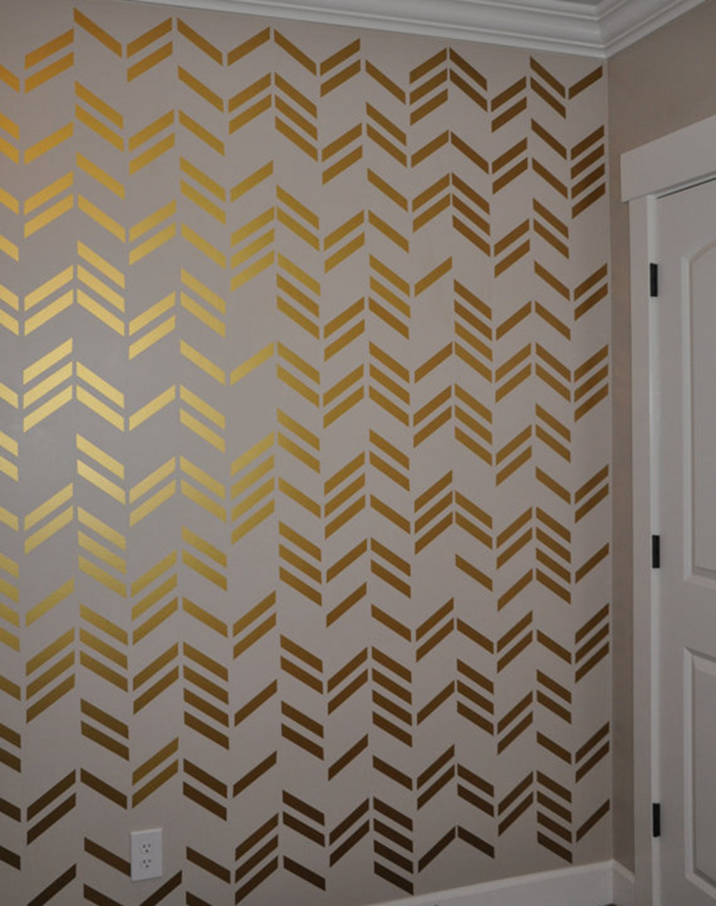 41pcsset free shipping wallpaper wall decals gold herringbone 41pcsset free shipping wallpaper wall decals gold herringbone pattern wall art sticker modern home decor in wall stickers from home garden on amipublicfo Image collections