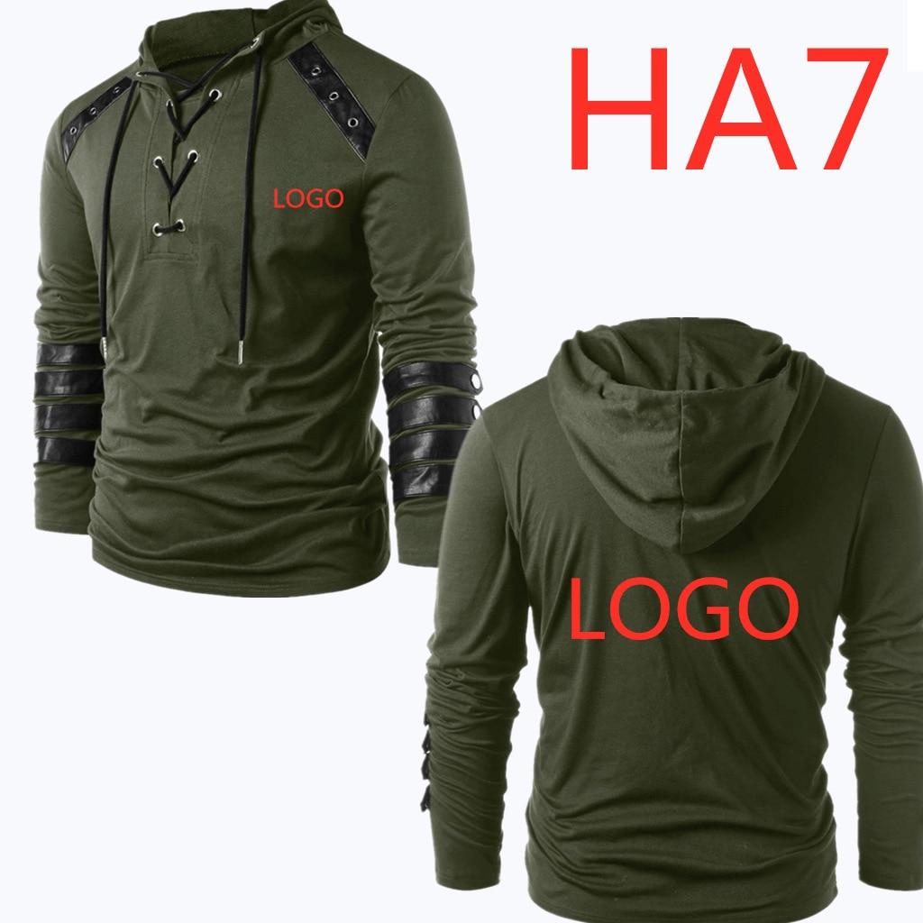 Men/'s Pullover Drawstring Hoodie Vintage Leather Patchwork Sweatshirt Hooded Long Sleeve Tops