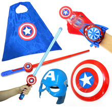 The Avenger Super Hero Captain America Shield Helmet Cosplay for Kids Toy Action Figure Model Plastic Escudo