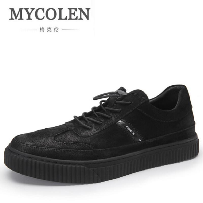 MYCOLEN New Luxury Fashion Black Casual Shoes Men Classic Breathable Shoes Comfort Soft Walking Driving Shoes Men Trainers bimuduiyu new england style men s carrefour flat casual shoes minimalist breathable soft leisure men lazy drivng walking loafer