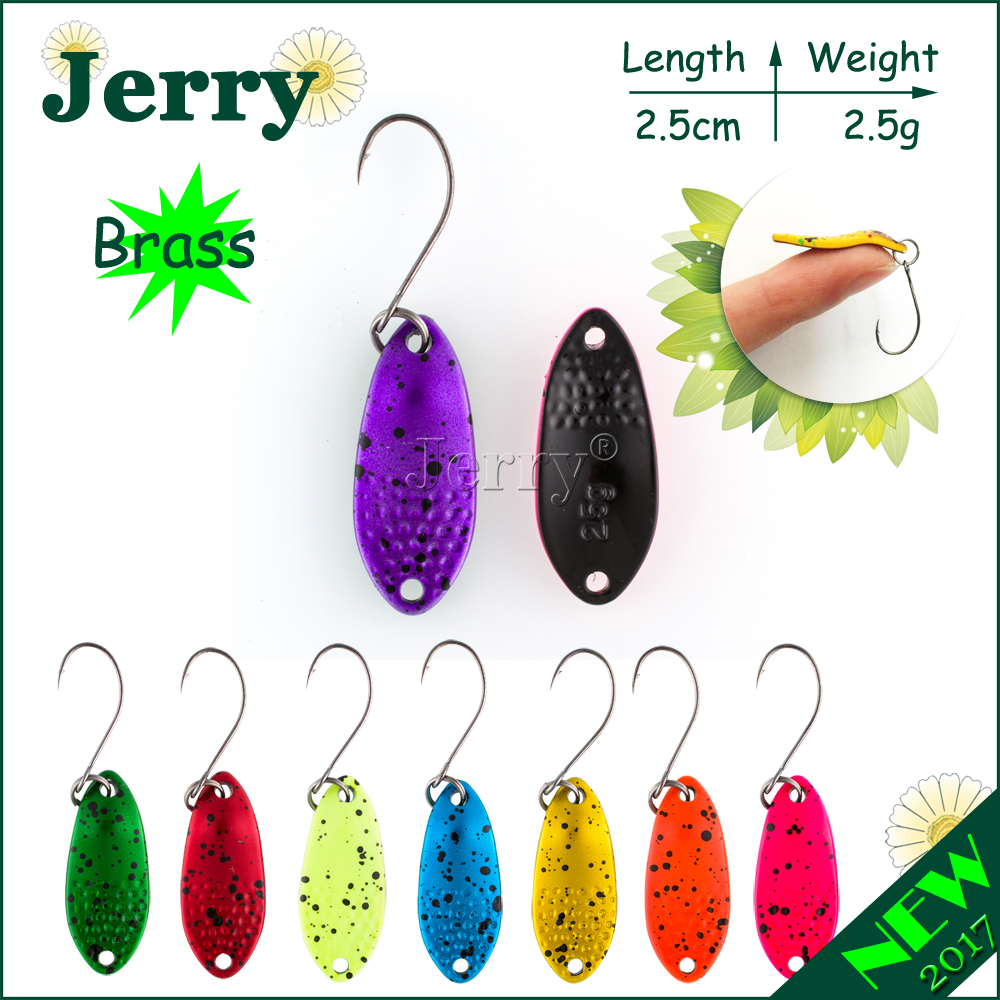 Jerry 1pc ultralight fishing spoons freshwater fishing bait Japanese brass trout spoon lures bright colors jerry 1pc 2 8g fishing blade vibes lipless crankbait ultralight micro lures japan trout lures hard body bait metal vib lure