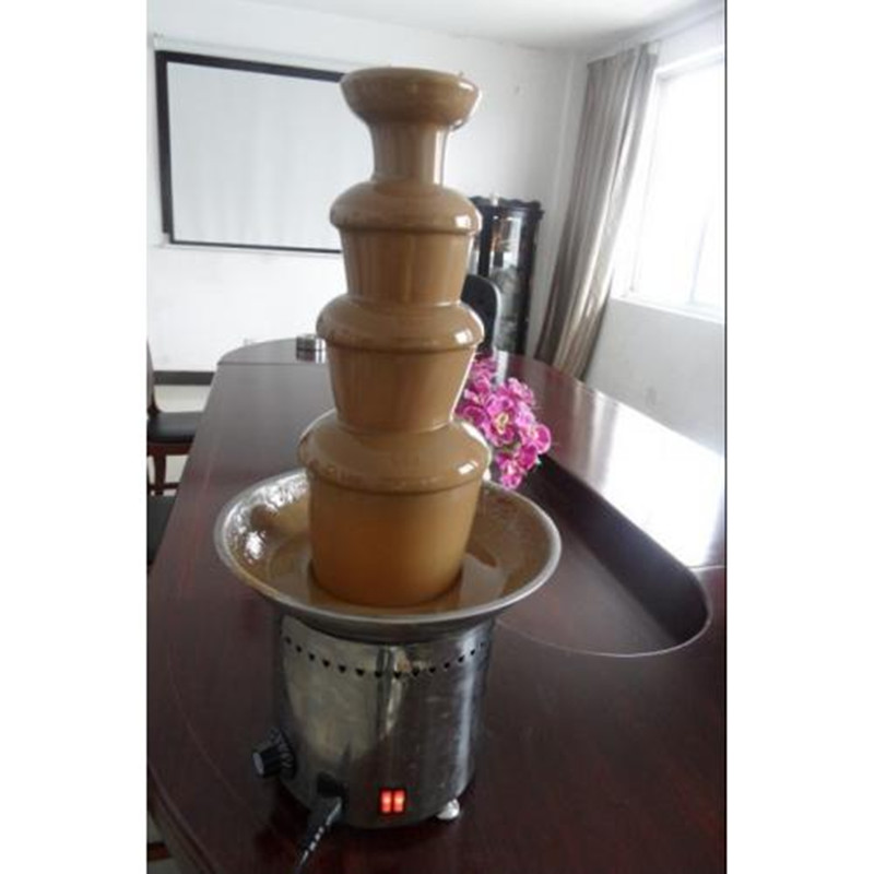 4 tiers chocolate waterfall fountain maker chocolate fondue fruit ZF