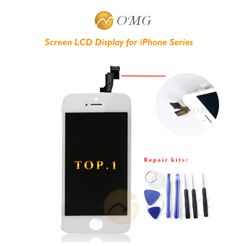 OMG for iPhone 6 6s 6G 4.7AAA Replacment Screen LCD Display for iPhone 5 5s 5 s LCD Touch Screen Digitizer Assembly+Repair kits