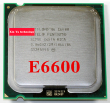 Lifetime warranty Pentium E6600 3.06GHz 2M 1066 Dual Core desktop processors CPU 6600 Socket LGA 775 pin Computer Free shipping
