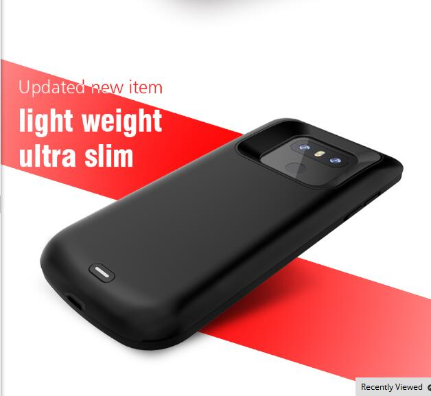US $34 99  Slim phone power case for LG G6/G6+ 5000mah battery charging  cover Output 5V/2A battery case-in Battery Charger Cases from Cellphones &