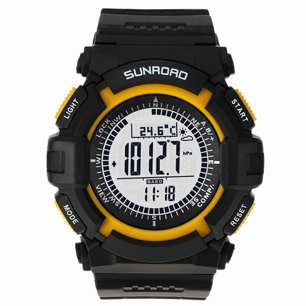 Sunroad FR820A 3ATM Waterproof Altimeter Compass Stopwatch Fishing Barometer Pedometer Outdoor Sports Watch Fishing Tools-in Fishing Tackle Boxes from Sports & Entertainment