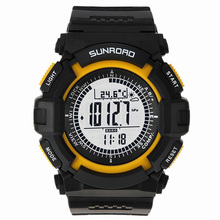 Sunroad FR820A 3ATM Waterproof Altimeter Compass Stopwatch Fishing Barometer Pedometer Outdoor Sports Watch Fishing Tools