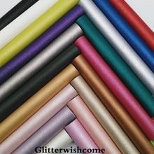 Glitterwishcome 21X29 см A4 Размеры Синтетическая кожа металлизированной кожи, искусственная кожа PU Ткань Винил для Луки, GM051A