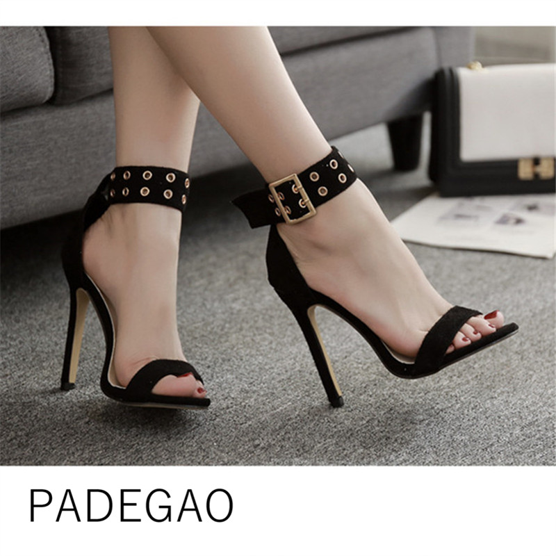 Women Sandals 2019 Summer Fashion Casual Womens Shoes Super High Heeel OL Sexy  Shoes