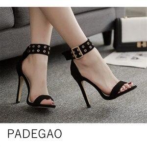 Image 1 - Женские сандалии 2019, летняя модная повседневная женская обувь, очень высокие сексуальные туфли Heeel OL