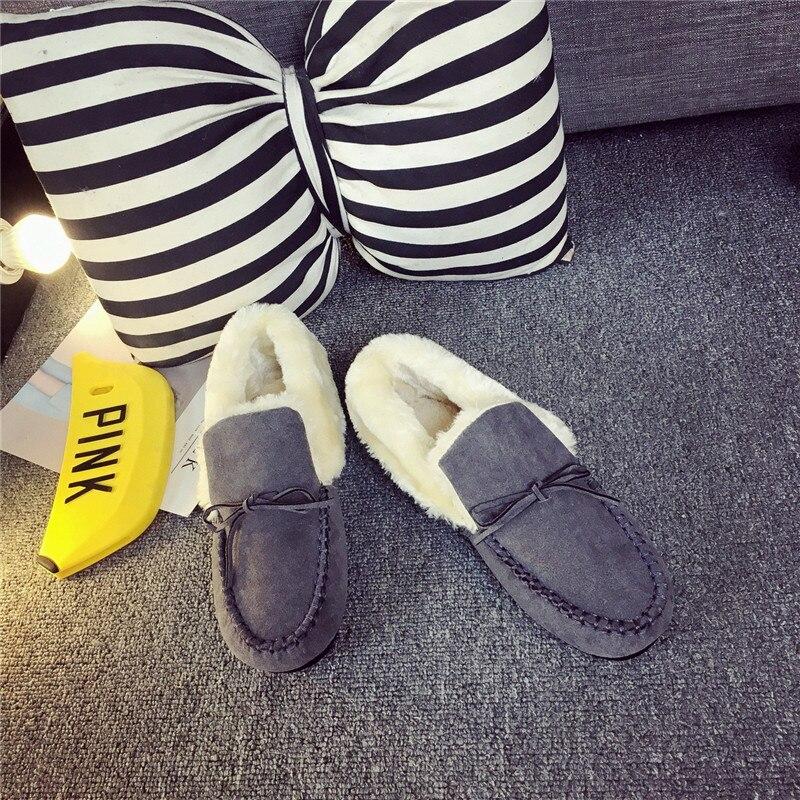 Zapatos gris Noir Peluche Phyanic En Couleurs marron Appartements Hiver Arc Casual rose vert Coton Rétro Paresseux 5 Chaussures Femme Mocassins Automne Femmes Mujer nOnRx6ra