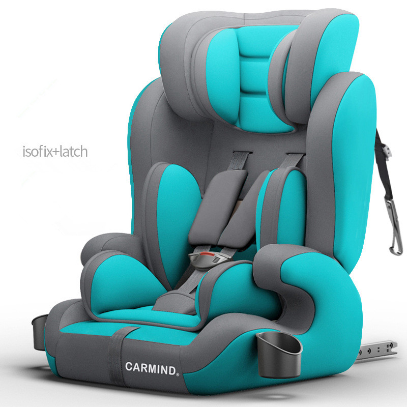 2019 CARMIND Child car safety seat with cup holder isofix soft interface car seats for 1 12 years old 9 36KG car seats