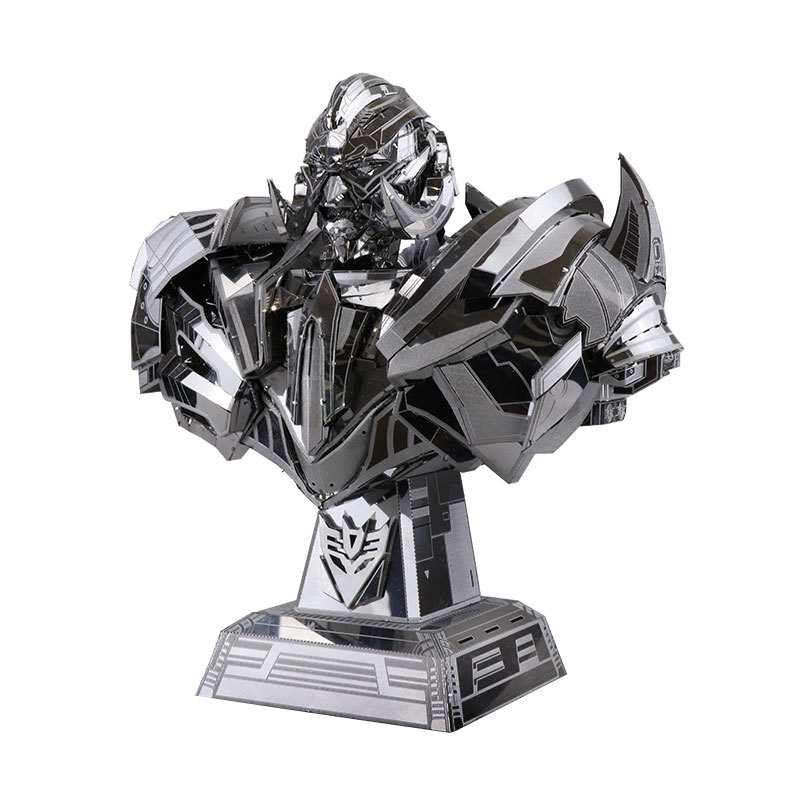 MU 3D Metal Puzzle TF Megatron bustt DIY Laser Cut puzzles Jigsaw Model For Adult kids Educational Toys Desktop decoration colorful god of war returns 3d metal puzzles model for adult kids manual jigsaw educational toys desktop display collection gift