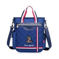 dark blue one shoulder crossbody bag for laptop school bags for boys book bag red schoolbag for girls messenger bags kids gifts