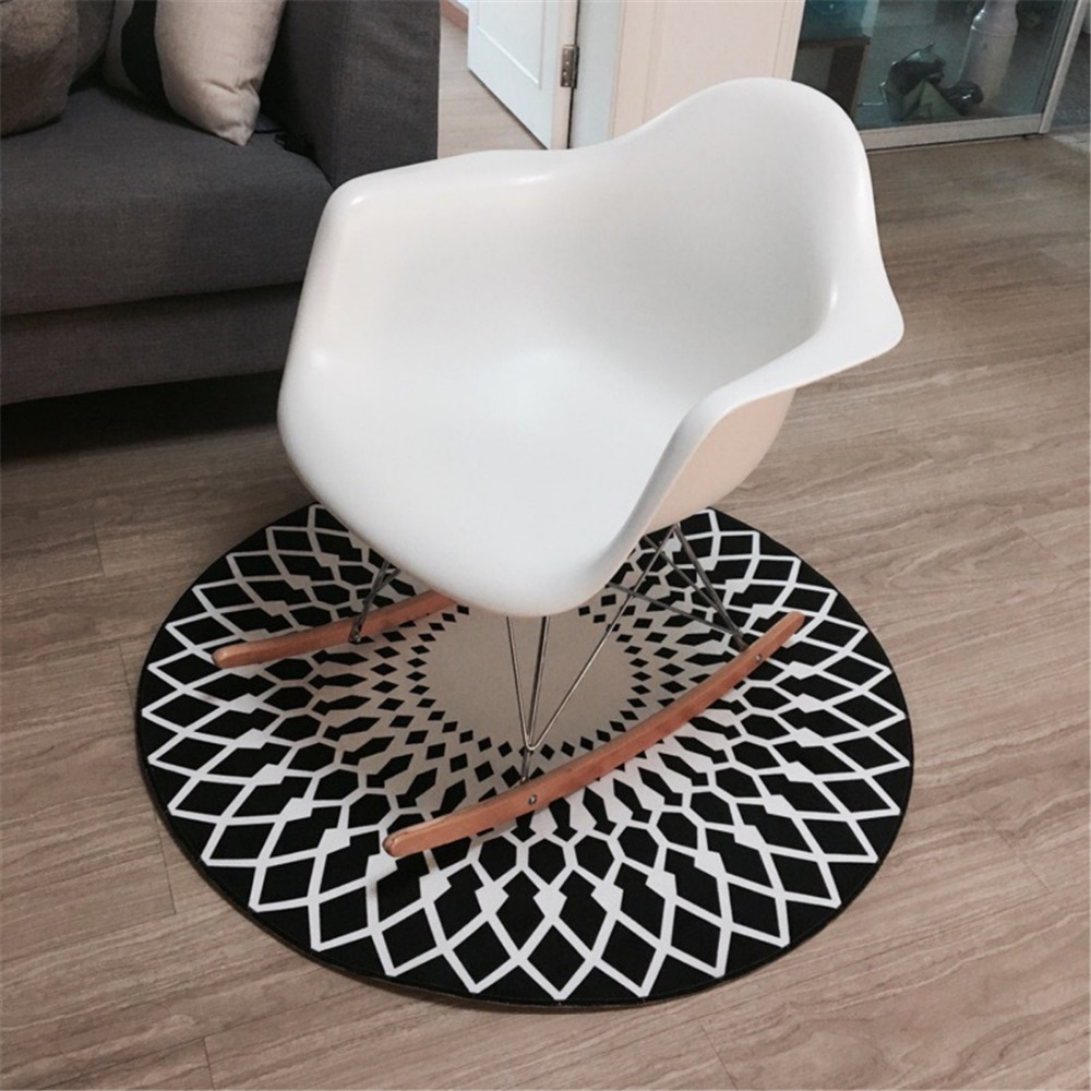 online get cheap area rugs round aliexpresscom  alibaba group - hot sale modern geometric round area rug ccm black white