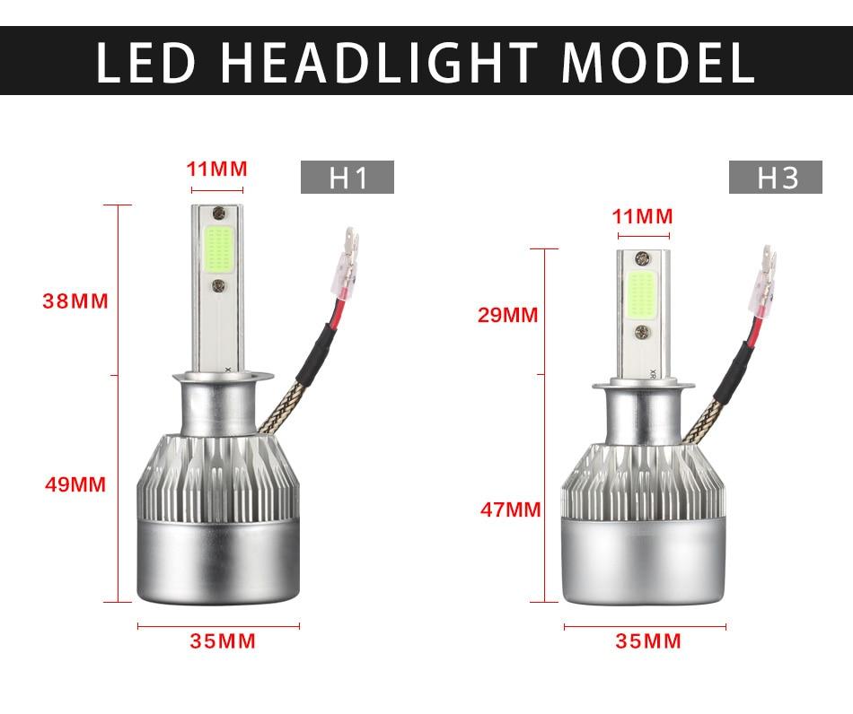 HTB1V9TlaNrvK1RjSszeq6yObFXas 2x H7 LED H11 H4 Hi/Lo H1 H3 H8 HB1 HB3 HB4 HB5 PSX24W HIR2 H13 H16 H27 Car Headlight Bulbs 3000K 4300K 6000K 8000K COB C6
