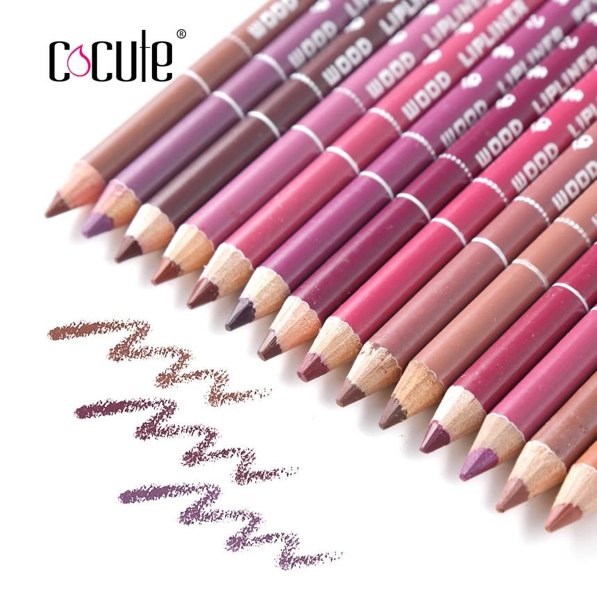 14/lot Professional Waterproof Natural Cosmetic eye/Lip Liner Lipliner Pen Pencil Makeup Multi-Colors perfilador de labios  цена и фото