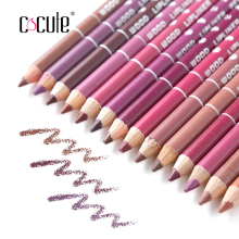 New Arrival 14/lot Professional Waterproof Cosmetic eye/Lip Liner Lipliner Pen Pencil Makeup Multi-Colors perfilador de labios