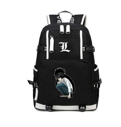 Japon Anime Death Note sac à dos grande toile impression sac à bandoulière pour garçons filles voyage ordinateur portable livre sac