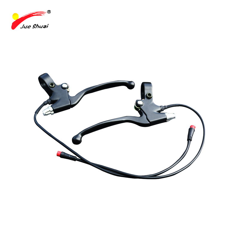 Jueshuai Aluminum Alloy Brake Lever For Electric Bike Wuxing Bike Power Cut Off Sensor Brake Electric Handles Bicycle Brake