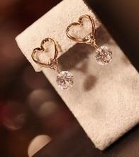 Luxury Crystal Zircon Stud Heart Earring