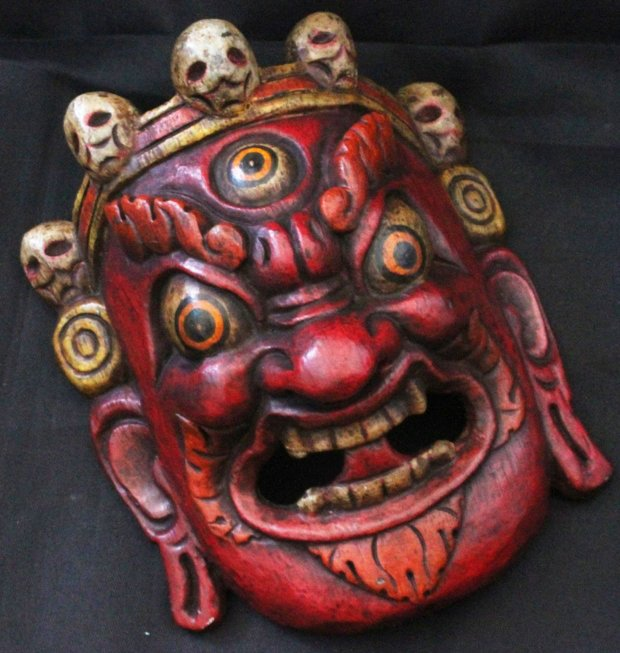 hdc0731 tibetan wooden handicraftshome decor mask artsfolk artschina mainland