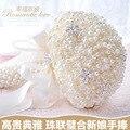 Элегантный Люкс Жемчуг Искусственный Свадебный Букет 2016 Высокое Качество Невесты Руки с Цветами в Руках