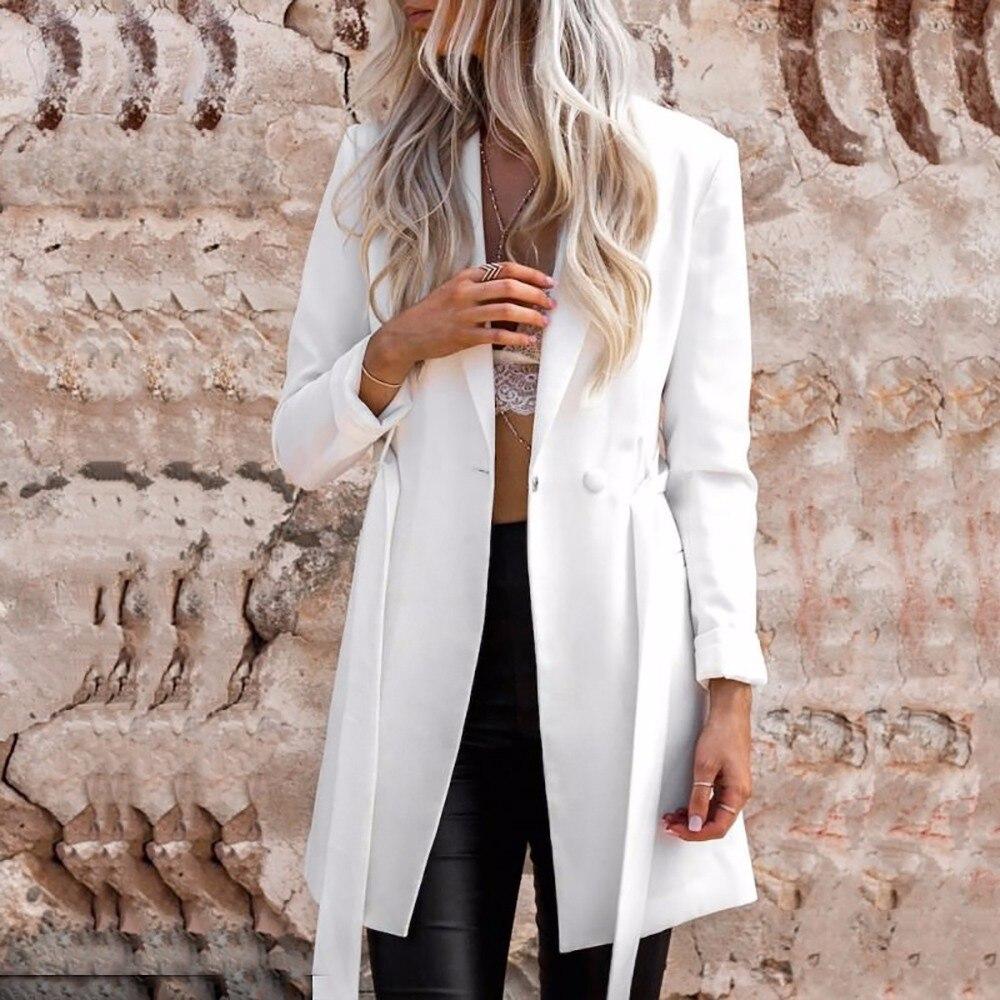 Hyh haoyihui bialy kolor pasa notched blazer panie długi rękaw garnitur blazer eleganckie biuro kobiet jesień marynarka 9
