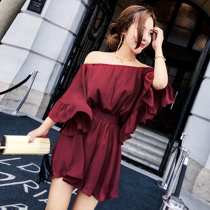 El Pantalones Una Coreana Corto 2019 Y Mujer Pantalón Versión t1 Primavera Rojo Suelto Ocio Hombro Nueva Las Mujeres De Piezas La Otoño 8vWSqcpT5O