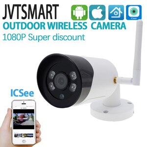 Image 1 - Caméra extérieure sans fil 1080 P HD Wifi caméra en métal CCTV Camara téléphone portable balle SD TF carte slot caméra de sécurité ICsee XMeye