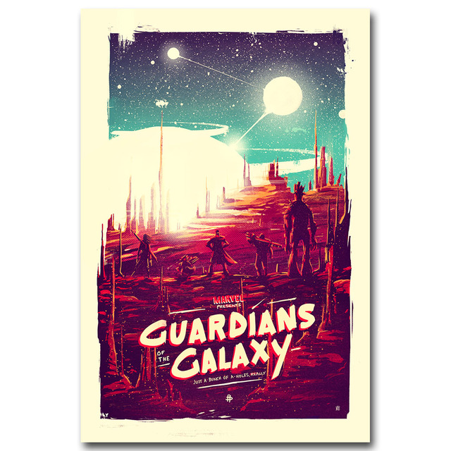 Guardians of the Galaxy Art Silk Fabric Poster Print Movie Wall Pictures Living Room Decor Star Lord Rocket 011