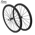 1 Year Warranty 700C Carbon Fiber Bike Wheels 38mm Carbon Clincher UD/3K finish wheel for bicycle roue carbone pour velo route