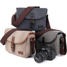 Camera Cover Case Bag Retro Shoulder Handbag Waterproof Case for Canon Sony DSLR EOS 200D 77D 7D 80D 800D 1300D 6D 70 P3E6 цена