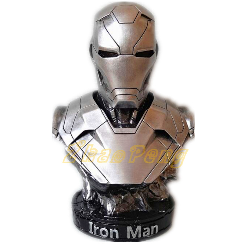 Avengers iron man Superhero 1/2 scale Iron Man MK46 resin statue toys action figure bust 36CM 4 colors Iron-Man figure toy