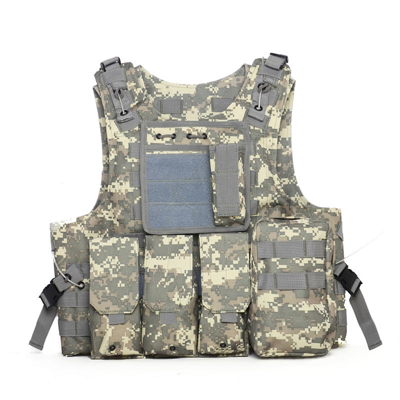 Armor military tactical vest molle hunting vest outdoor camouflage wargame field battle multi-functional equipments 5 colors