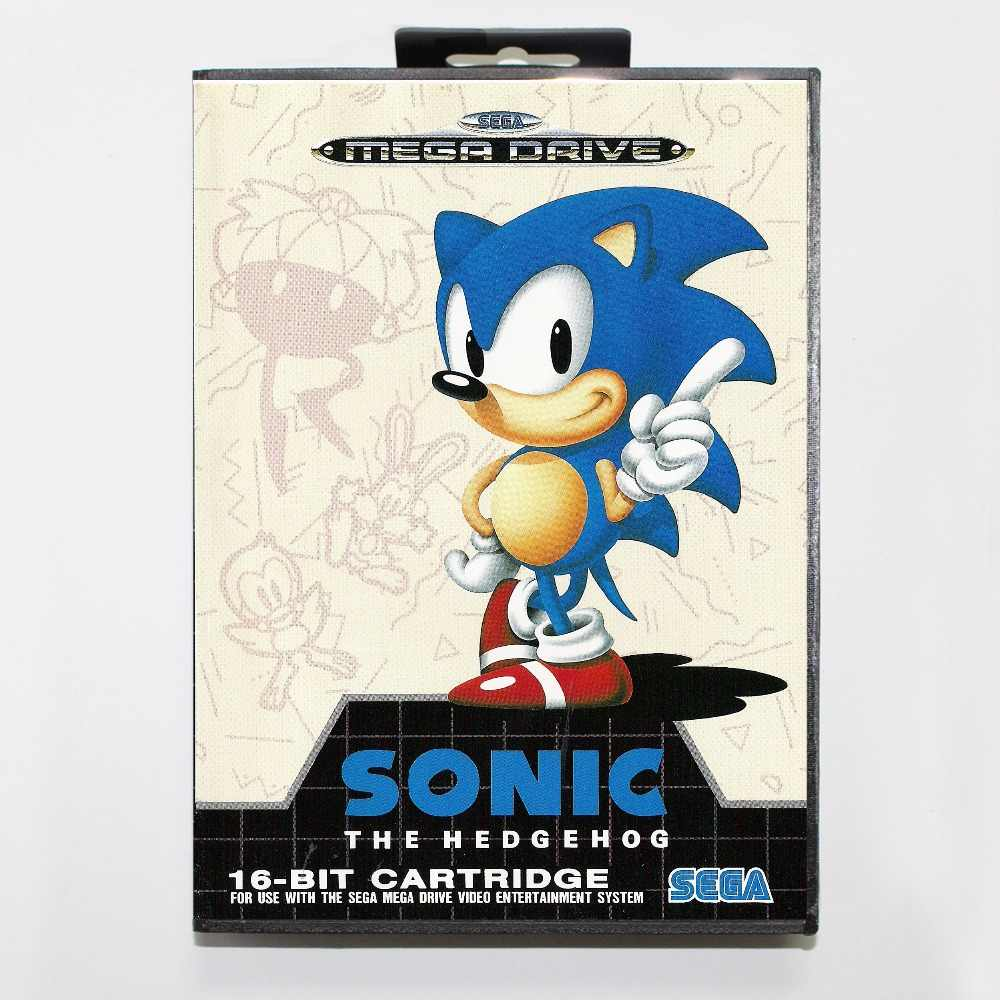 Sonic the hedgehog  16 bit SEGA MD Game Card With Retail Box For Sega Mega Drive For Genesis