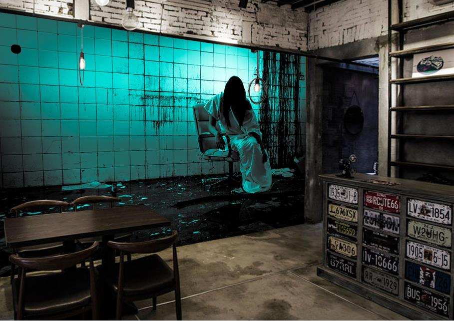 haunted horror theme space walls landscape mural ktv customized wallpapers