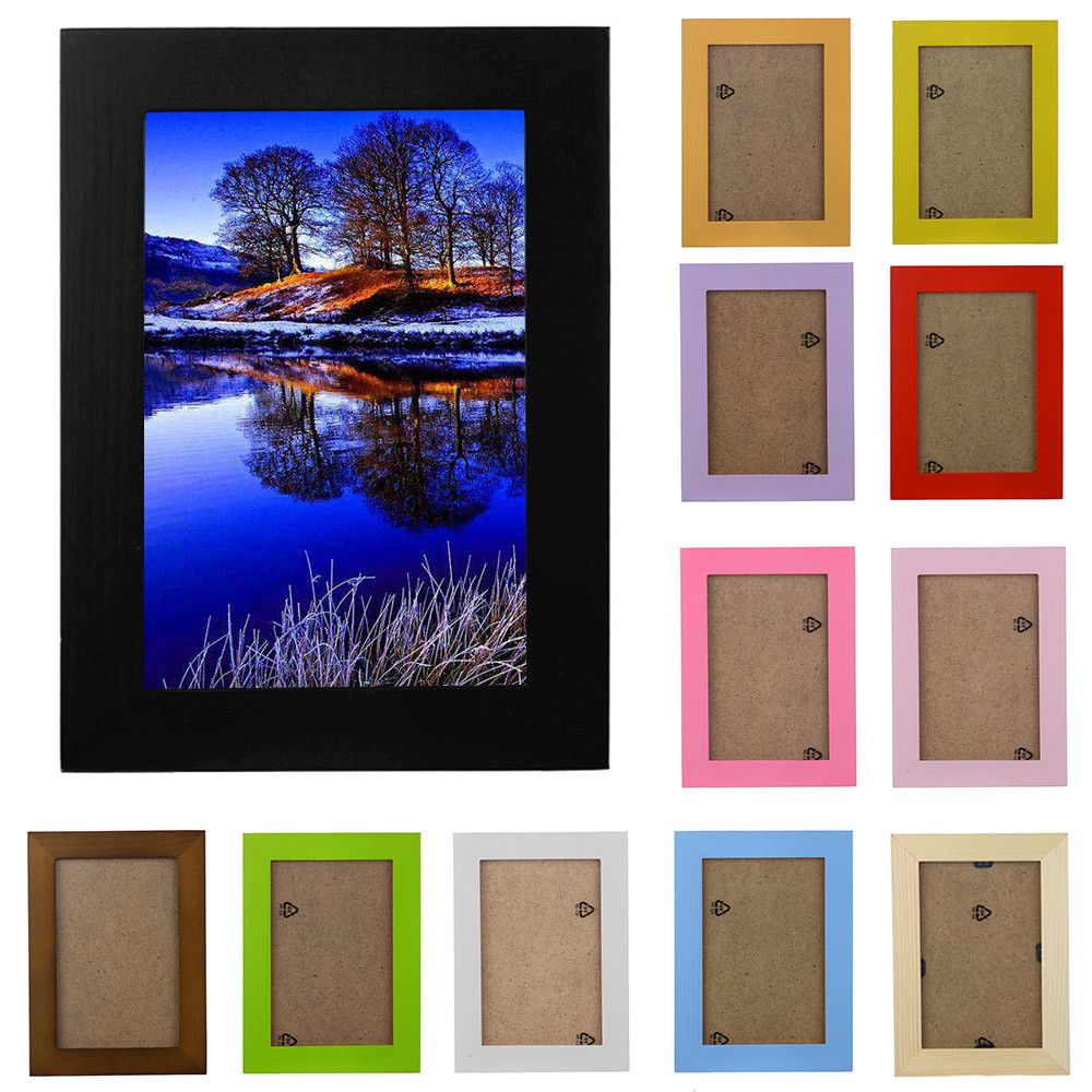 2018 New Arrival Wooden Picture Frame Wall Mounted Hanging Photo Frame Home Decor DIY Craft Decoration Wall Decals Frame