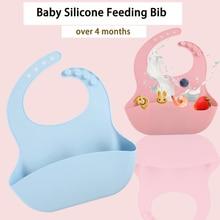 Мультяшный силиконовый для новорожденных фартук нагрудник для кормления детский нагрудник регулируемый водонепроницаемый для более 4 месяцев мальчик девочка Кормление инструменты кухня