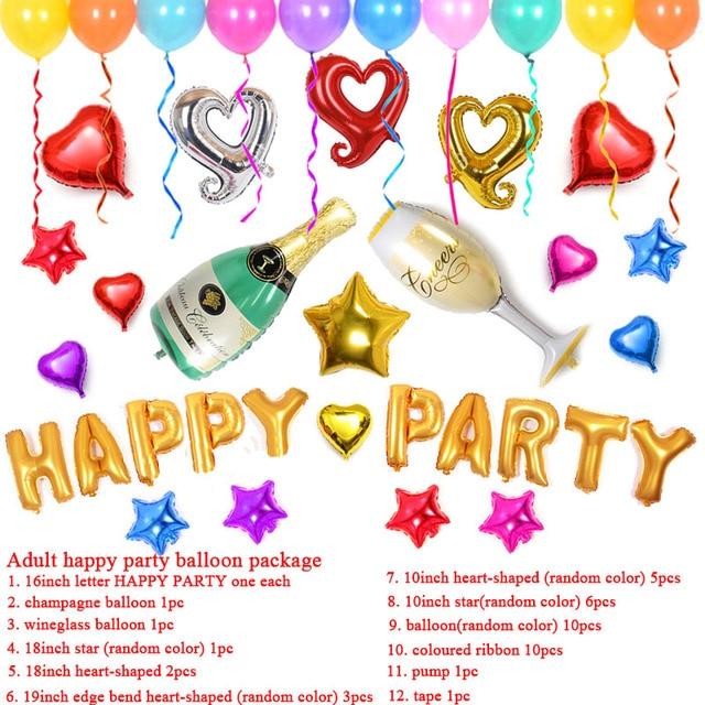 Aire Globos de Cumpleaños Año Nuevo Partido Decoración de la Boda ...