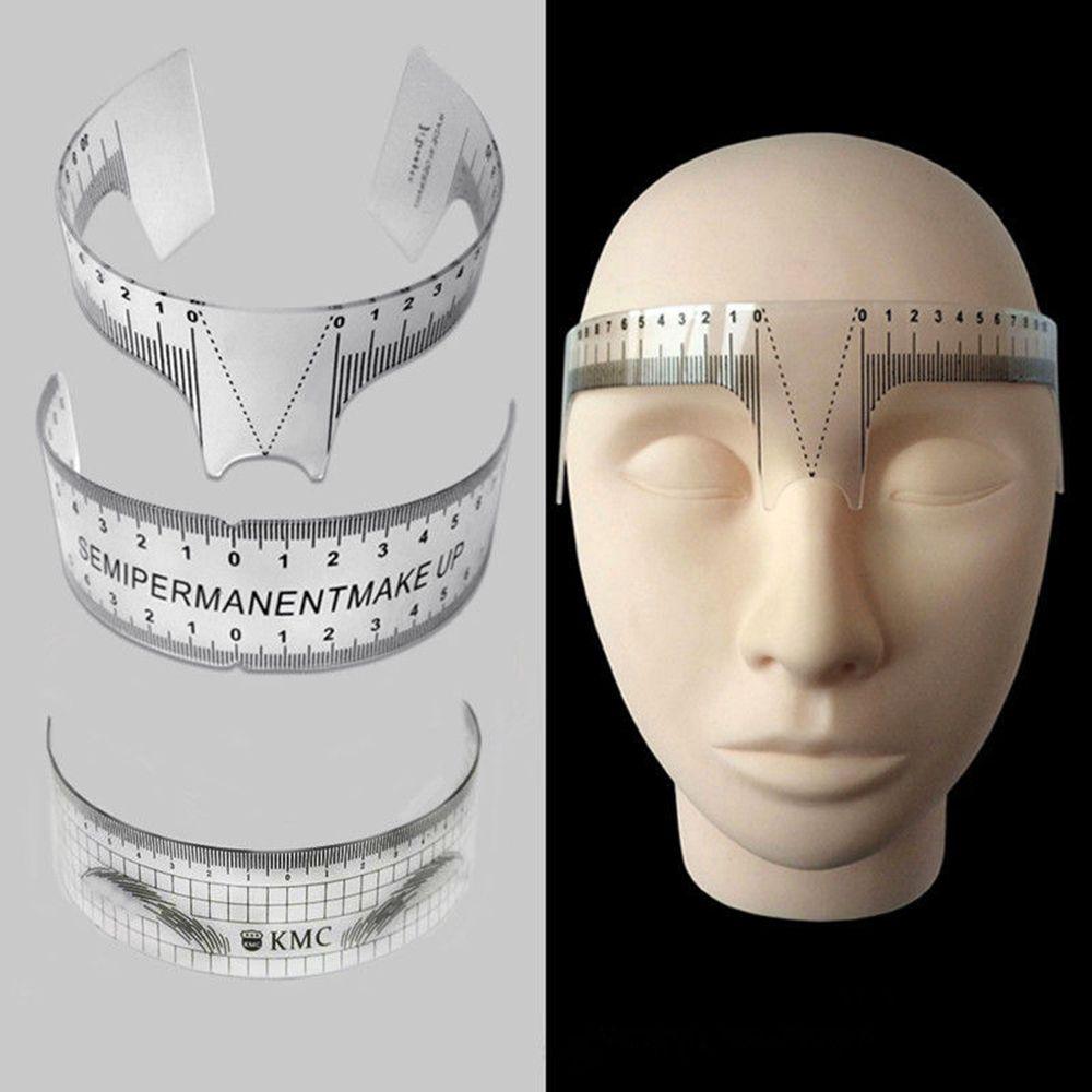 1PCS Reusable Semi Permanent Eyebrow Stencil Makeup Measure Tattoo Ruler Shaper Ruler