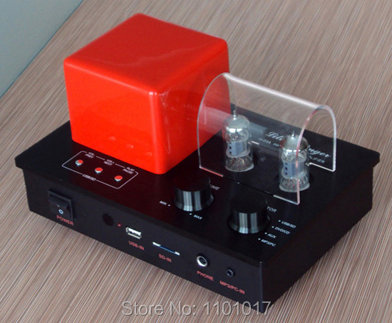 Xiangsheng H-03A hybrid 6F1 tube amplifier HIFI EXQUIS mp3 player USB key SD card Decoder pre-amplifier headphone amp xiangsheng sweet peach sp kt100 tube amplifier hifi exquis signal ended amp mm phono stage headphone usb decode xsspkt100