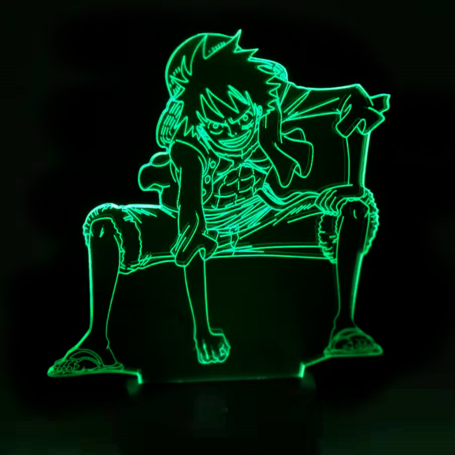 3D LED Night Light Anime One Piece Luffy Table Lamp USB 7 Color Atmospheres Children Sleeping Lighting For Boy Birthday Gifts3D LED Night Light Anime One Piece Luffy Table Lamp USB 7 Color Atmospheres Children Sleeping Lighting For Boy Birthday Gifts