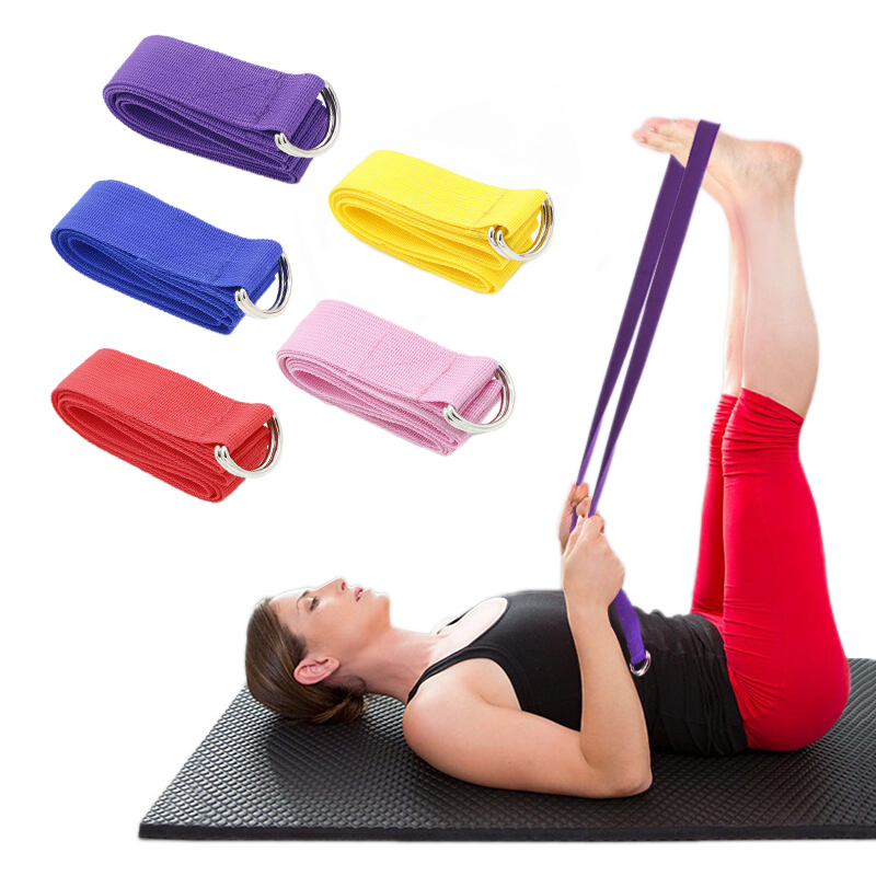 Adjustable Exercise Pull Stretch Yoga Belt Great For Yoga And Pilates Stretch With D Ring Belt Gym Waist And Waist Reinforcement