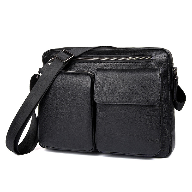 Nesitu High Quality Black Real Skin Genuine Leather Men Messenger Bags for 9.7 ipad Male Shoulder Bags M1044Nesitu High Quality Black Real Skin Genuine Leather Men Messenger Bags for 9.7 ipad Male Shoulder Bags M1044