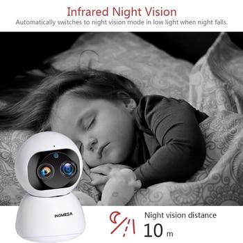 INQMEGA Cloud 1080P 2MP Dual-Lens Wireless IP Camera Wifi Auto Tracking Indoor Home Security Surveillance CCTV Network Camera 5