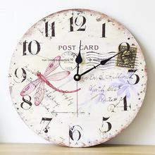 French Country Home decoration large wall clock silent wall clock vintage home decor fashion big wall watches rustic style 002D6